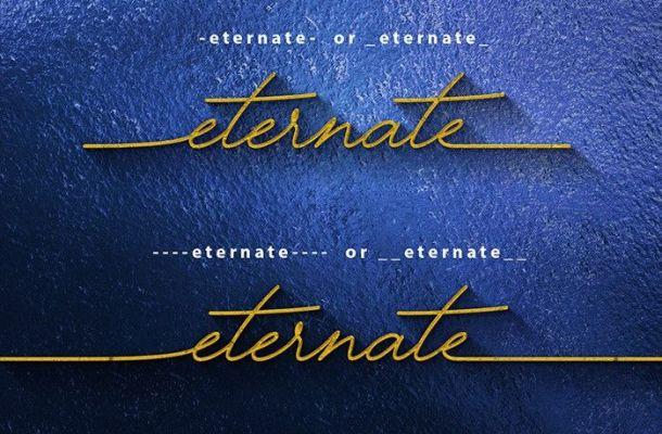 Eternate Signature Font