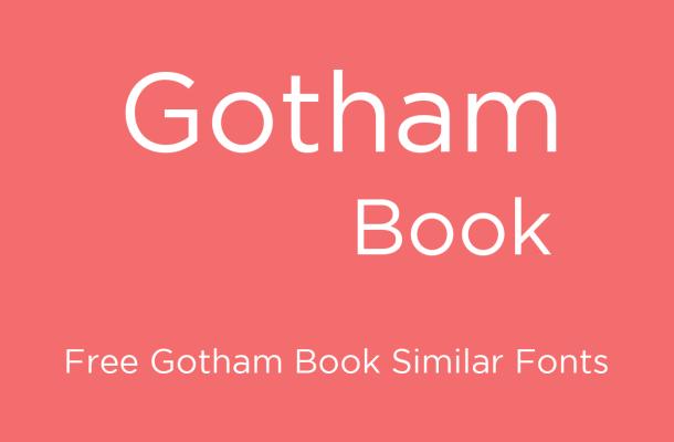 Gotham Book Font Free