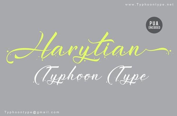 Harytian Calligraphy Font
