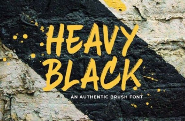 Heavy Black Brush Font