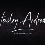 Hessley Andreas Handwritten Font