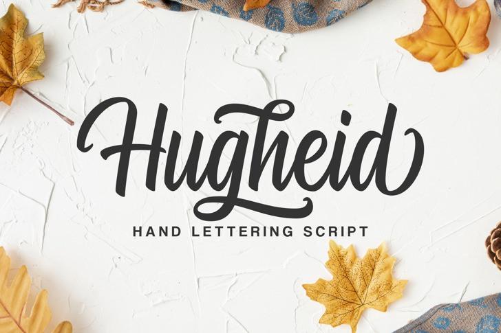 Hugheid Script Font