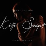 Kitti Signature Font