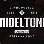 Mideltone Display Font