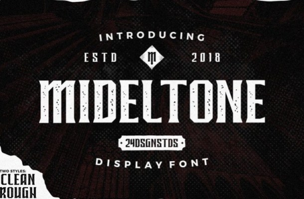 Mideltone Display Font