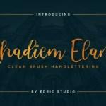 Nhadiem Elans Script Font