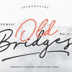 Old Bridges Vintage Signature Font