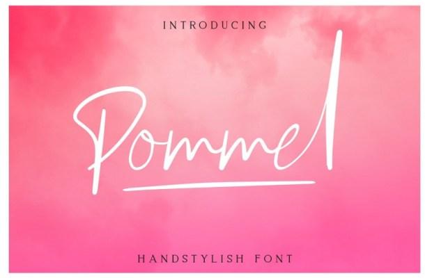 Pommel Handstylish Font