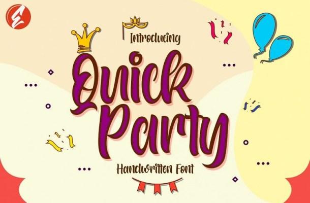 Quick Party Script Font