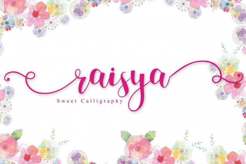 Raisya Calligraphy Font