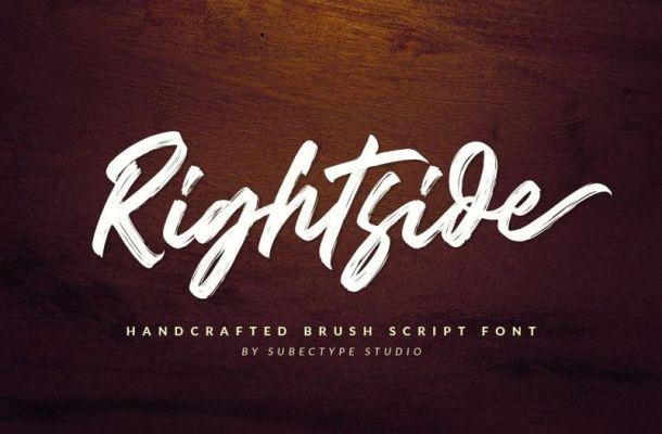 Rightside Brush Script Font