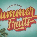 Summer Fruits Script Font