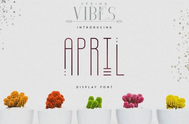 April Display Font