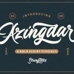 Azingdar Retro Bold Script Font