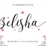 Belisha Calligraphy Font