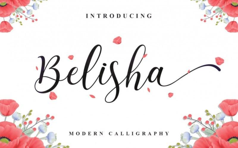 Belisha Calligraphy Font-1