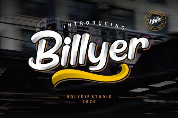 Billyer Dispaly Font