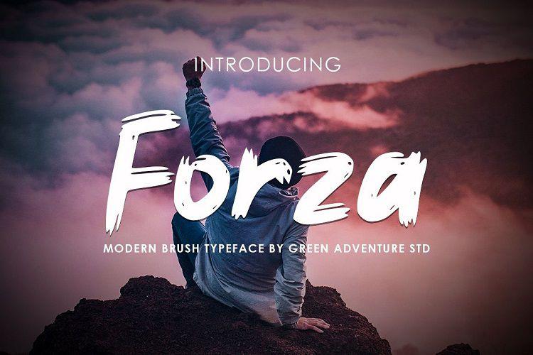 Forza - Brush Typeface-1