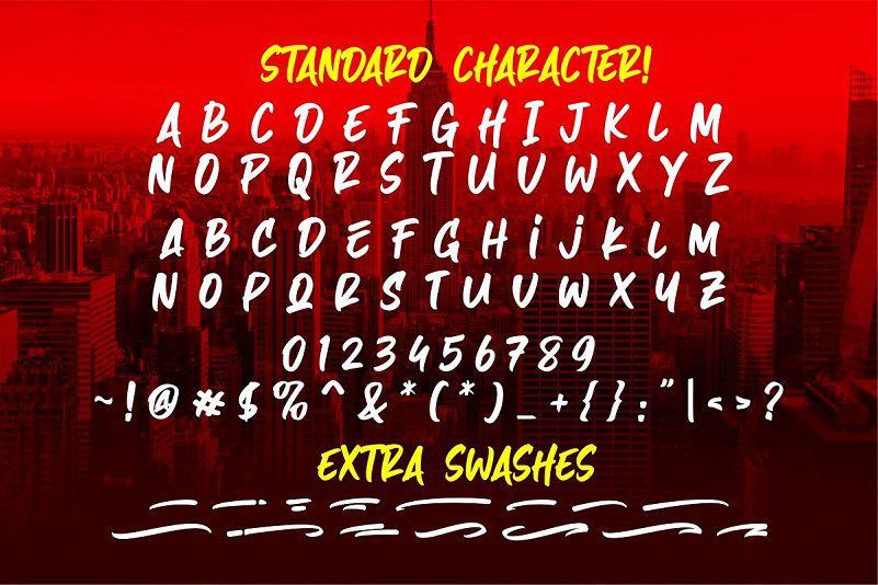 Hazard Stylish Marker Font-3