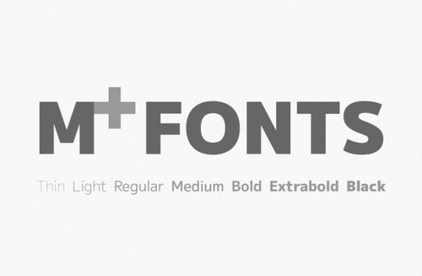 M+ Sans Serif Font Family