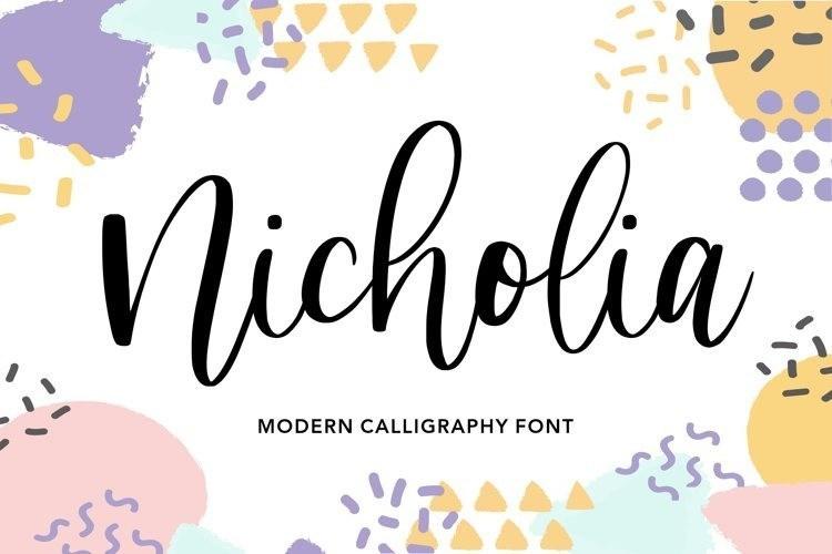 Nicholia Modern Calligraphy Font-1