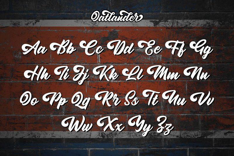 Oatlander Bold Script Font-3