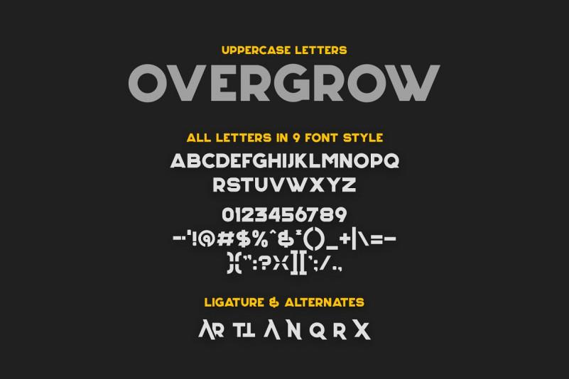 Overgrow Display Typeface-3