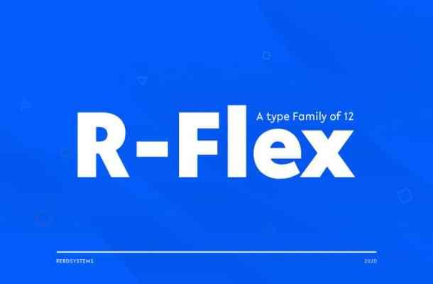 R-Flex Sans Serif Font