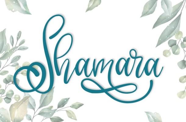 Shamara Calligraphy Font