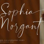 Sophia Morgant Calligraphy Font
