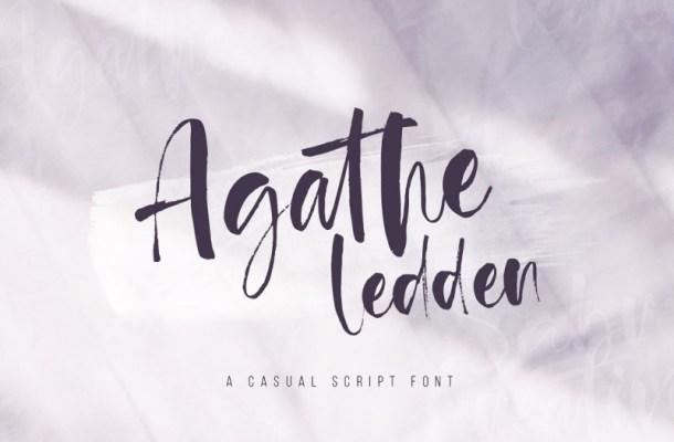 Agathe Ledden Brush Font
