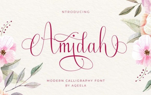 Amidah Calligraphy Font