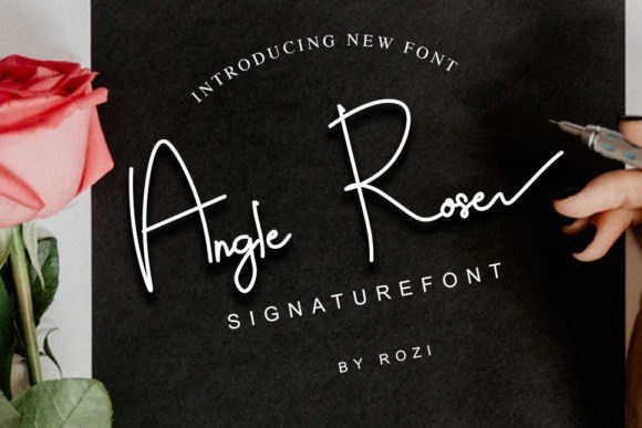 Angle Rose Signature Font