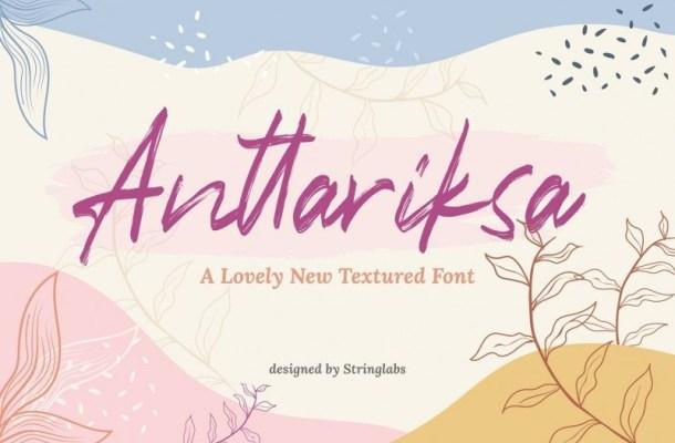 Anttariksa Brush Script Font