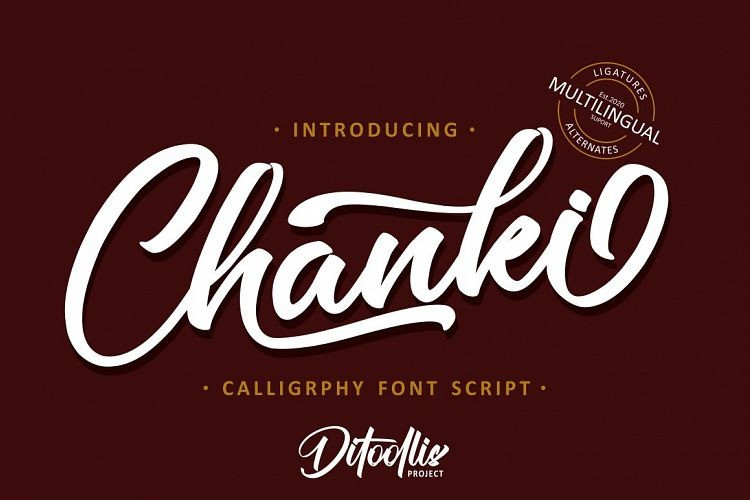 chanki-calligraphy-font