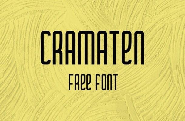 Cramaten Free Display Font