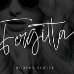Fergitta Signature Font