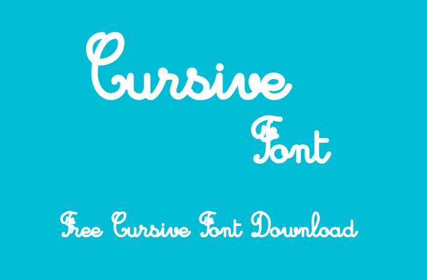 Cursive Font Family