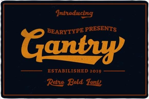 Gantry Retro Bold Font