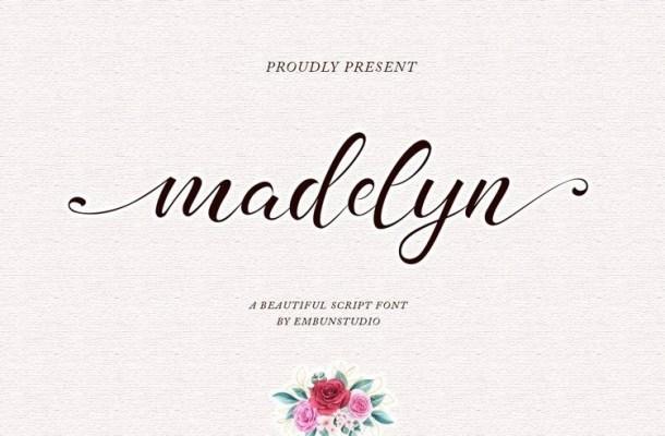 Madelyn Chic Script Font