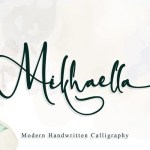 Mikhaella Modern Calligraphy Font