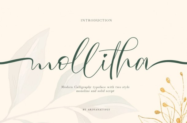 Mollitha Modern Calligraphy Font