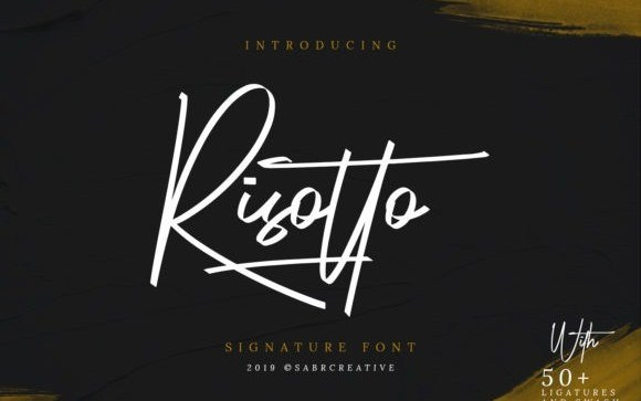 Risotto Signature Script Font