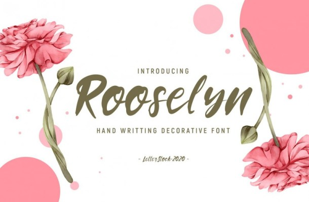 rooselyn-brush-font
