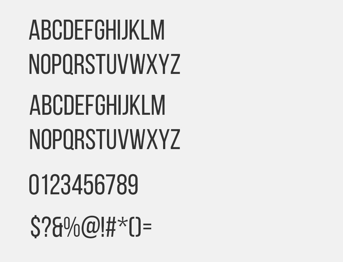 117 Bebas Neue font