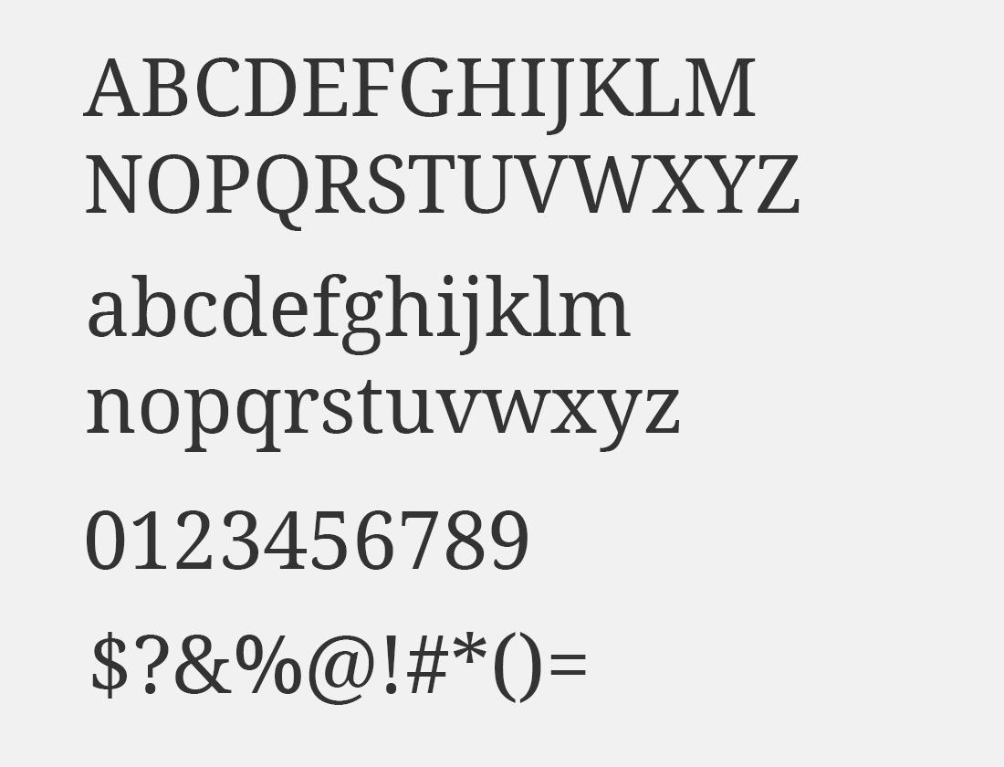 25 Noto Serif font