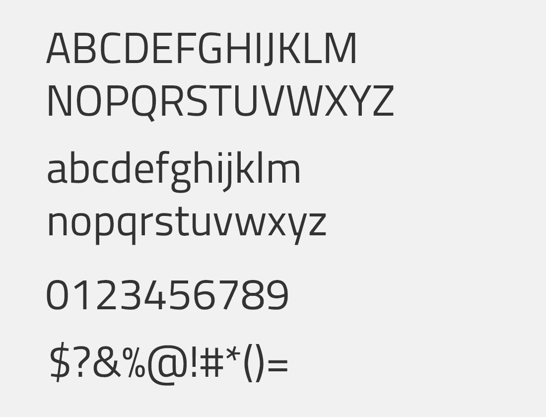 27 Titillium Web font