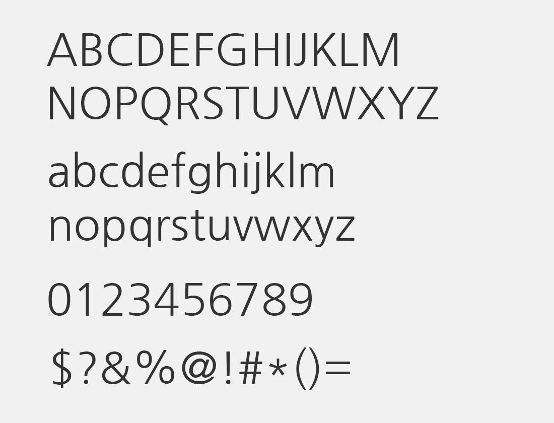 30 Nanum Gothic font