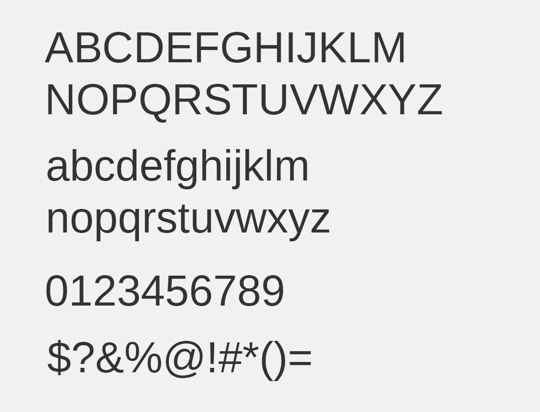 36 Arimo font