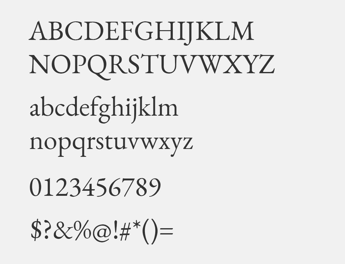 81 EB Garamond font